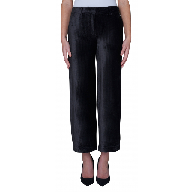 Eloise Crop Pants Black Corduroy
