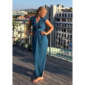 Giuliana kjole lang  blå