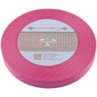 Webbånd nylon rosa