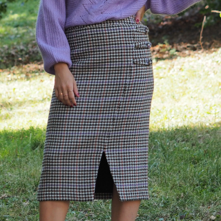 Welle Check Skirt