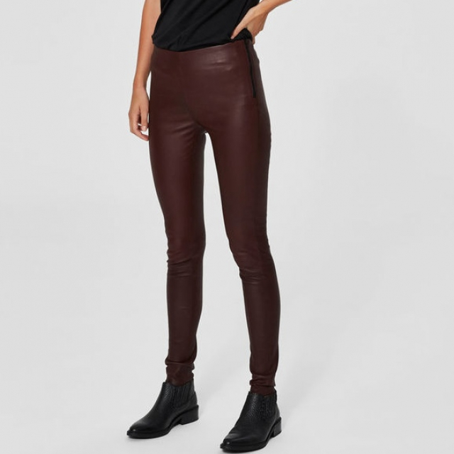 Sylvia Stretch Leather Legging