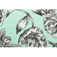 Jerseyprint med blomster