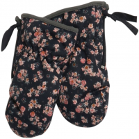 Mittens Technical Zipper Med Blomster