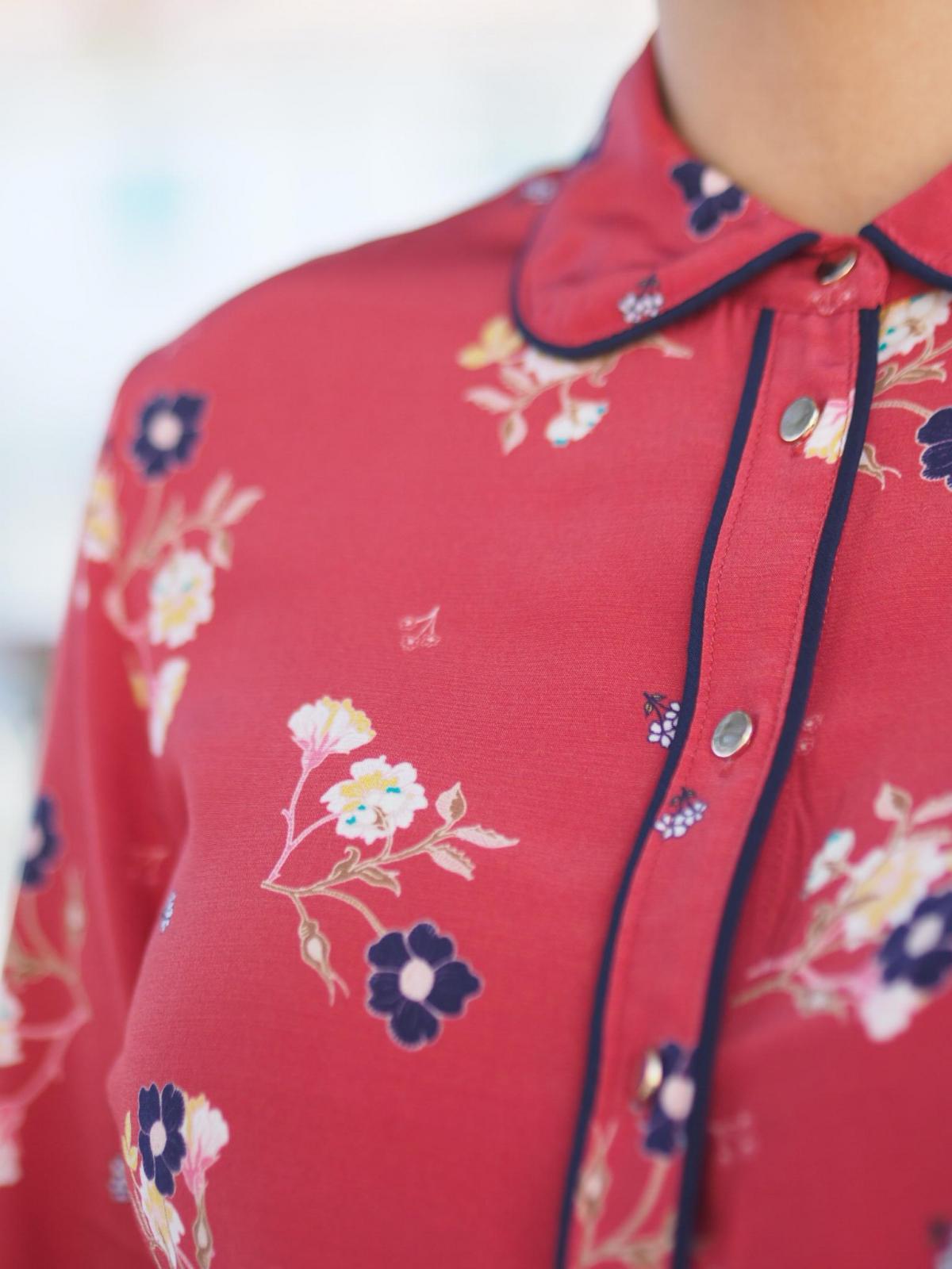 red Velua Shirt | Second Female | Skjorter & bluser | Miinto.no