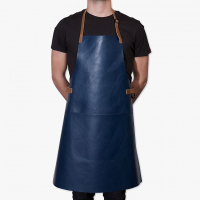 Apron BBQ Deep sea blue/Cognac