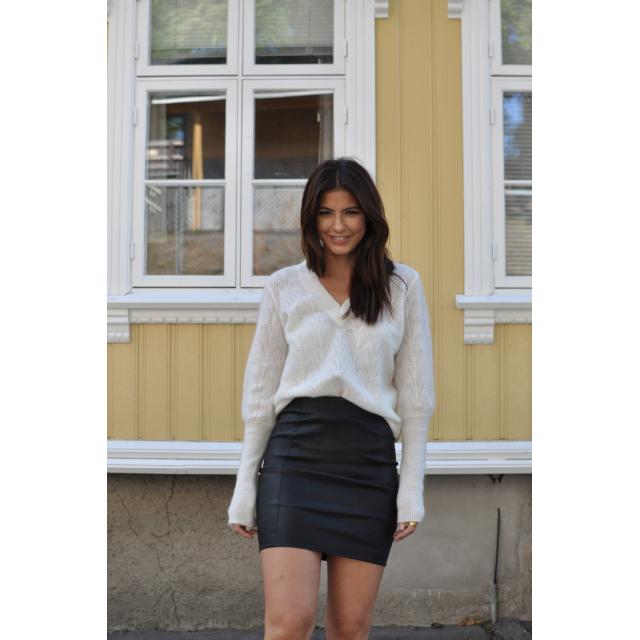 Sylvia Leather Skirt