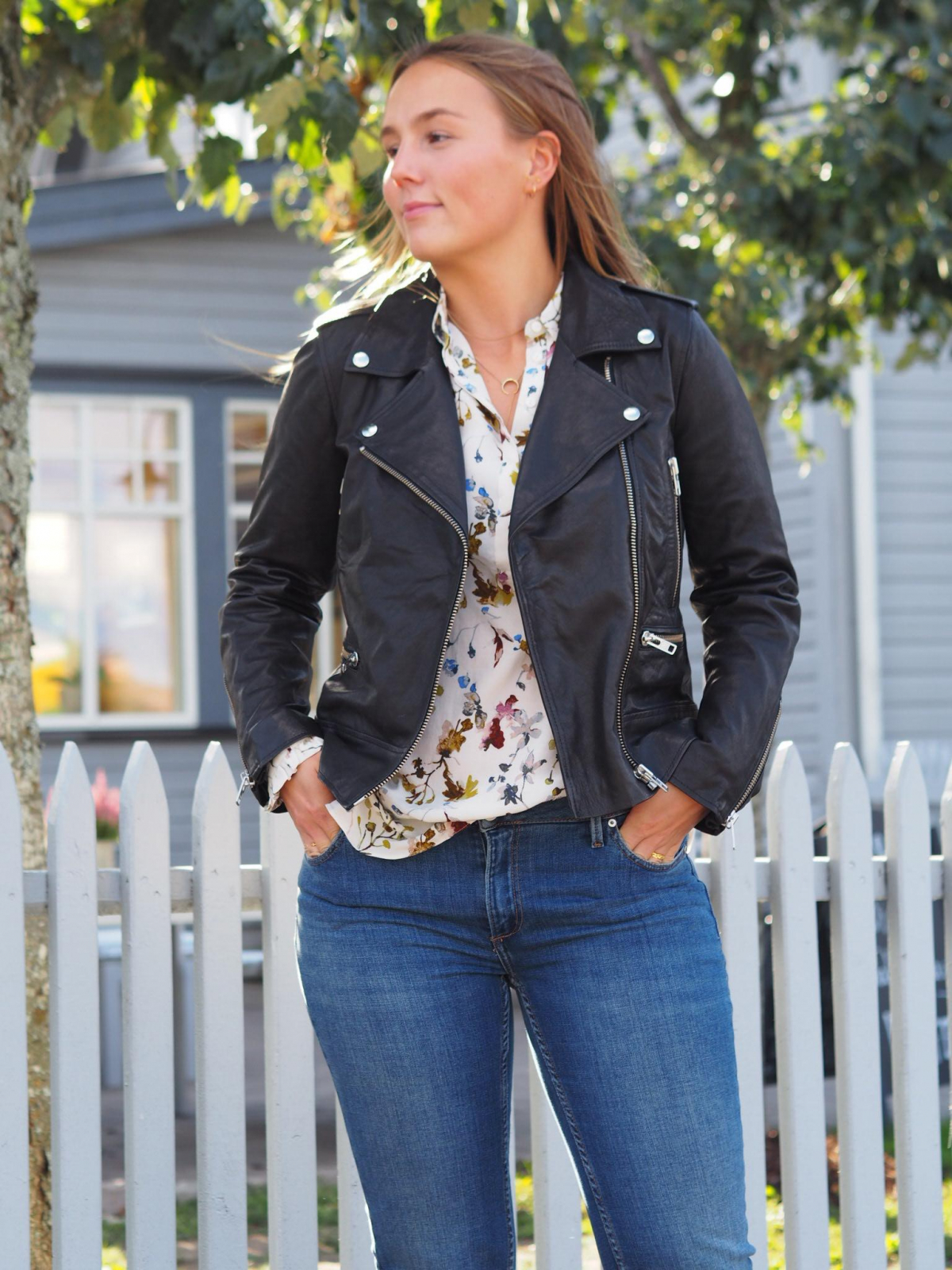 Second Female Metin Leather Jacket Black | GetInspired.no