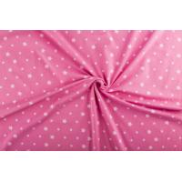 1 meter Jersey  stjerner mørk rosa