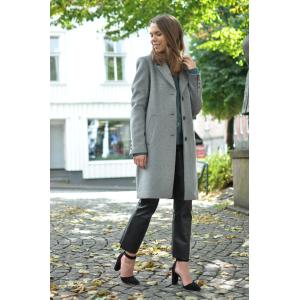 Sasja wool coat - medium grey melange