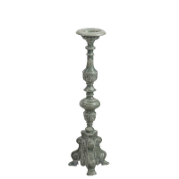 Candlestick Oriental Baroque Grey, Large