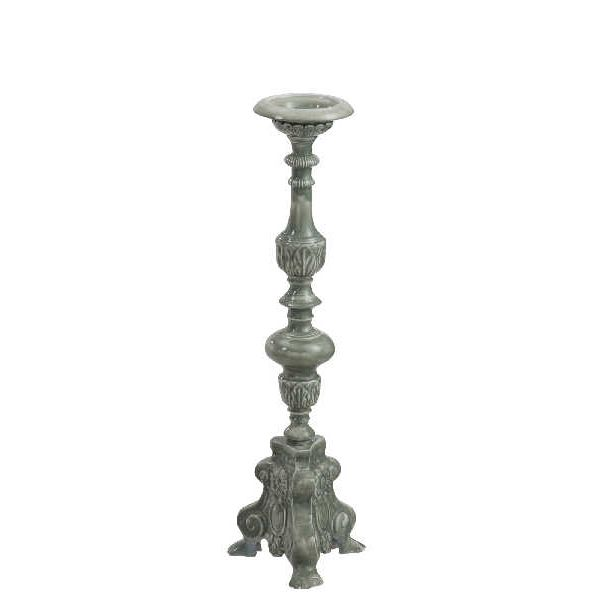 Candlestick Oriental Baroque Grey, Large