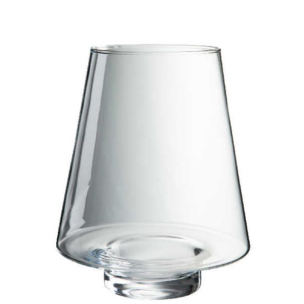 Candleholder conical glass