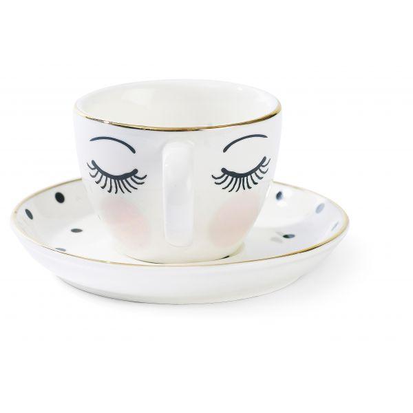 Espressokopp med ansikt