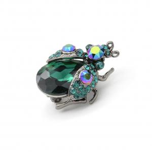 Dawn Brooch Emerald