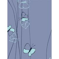 french terry med sommerfugler