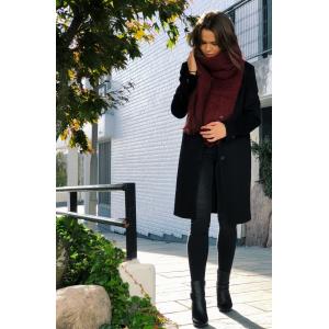 Boa wool coat - Black
