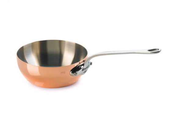 Mauviel kobber curved played saute pan 24cm
