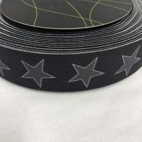 Bokserstrikk med stjerner svart bunn