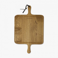 BBQ Board Square Solid Smoked Oak