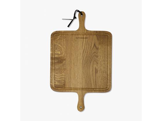 BBQ Board Square Solid Smoked Oak