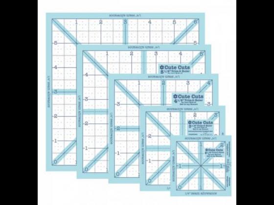Lori Holt Trim-It Square Ruler Pack - 2-1/2in,3-1/2in,4-1/2in,5-1/2in,6-1/2in