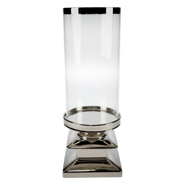 Lyslykt sølvfot 16,5x44