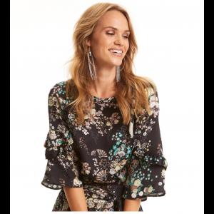 flower fantasy flirt blouse