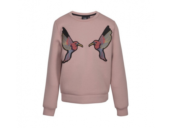 Sweat with birds patches