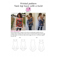 Tank top tunic with a twist 34-58