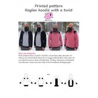 Raglan hoodie with a twist s-xxxxl