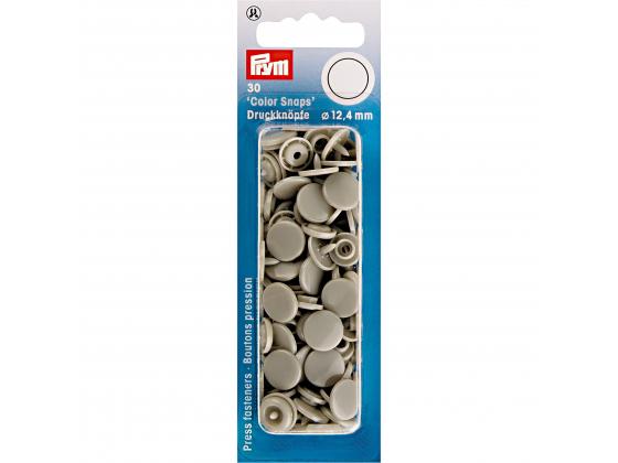 Plast trykknapp grå