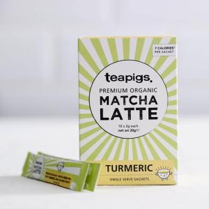 Matcha latte turmeric teapigs