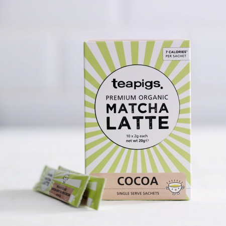 Matcha latte cocoa teapigs