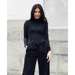 Jessa high neck top -Black