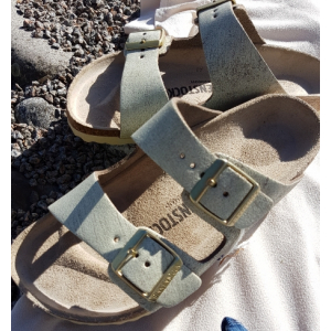 Arizona Washed Metallic Birkenstock