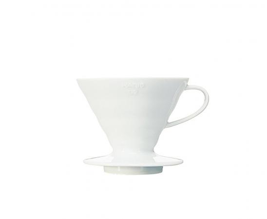 Hario håndbrygger V60 i hvit keramikk 02