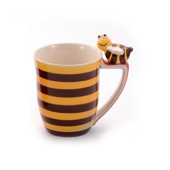 Biekopp stripete gul og brun
