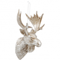 Hanging Decoration Moose Silver