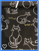 Kraftig bomullstoff med katter
