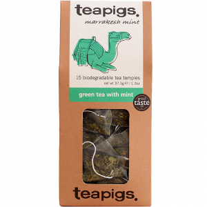 green tea with mint ~ teapigs