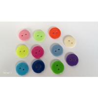 Små runde plastknapper