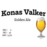 Konas Valker - Golden Ale til 22 liter
