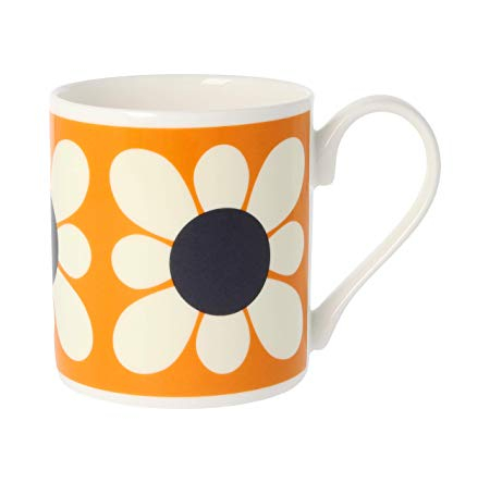 Square Daisy Flower Orange
