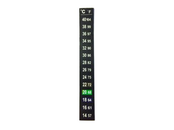 10pk - Temperatur klistremerke 14-40 °C (57-104 °F)