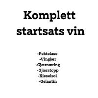 Sterkvin Ingredienser / Komplett Startsats Vin