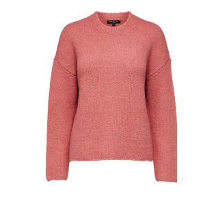 Regina knit O-neck - slate rose
