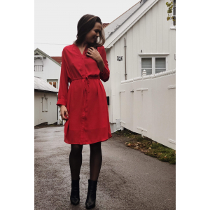 Damina Dress - Red