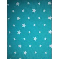 1 meter Jersey  stjerner grønn