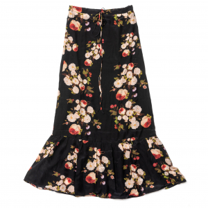 Long flower skirt