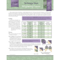 Migrating Geese Techniqe sheet